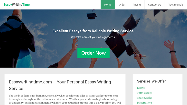 EssayWritingTime.com review